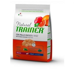trainer-natural-adult medium/maxi pollo e riso-12kg